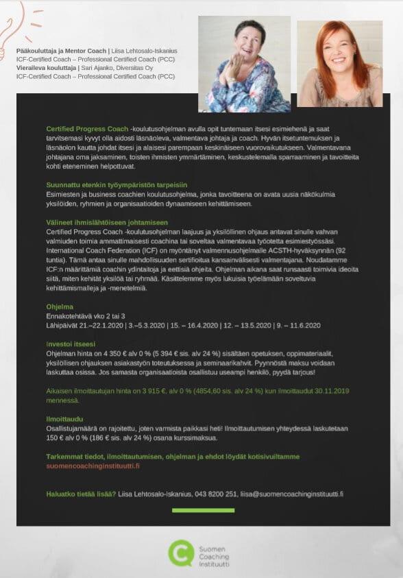 Suomen Coaching Instituutin esitteen kuva 2