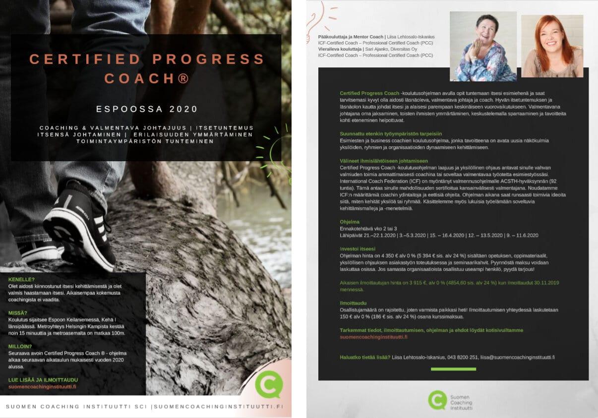 Suomen Coaching Instituutin esite yritykselle kuva 3