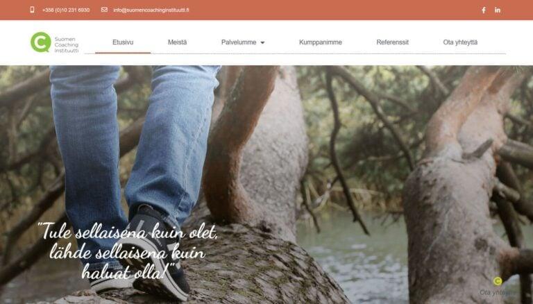 Suomen Coaching Instituutin kotisivut yritykselle