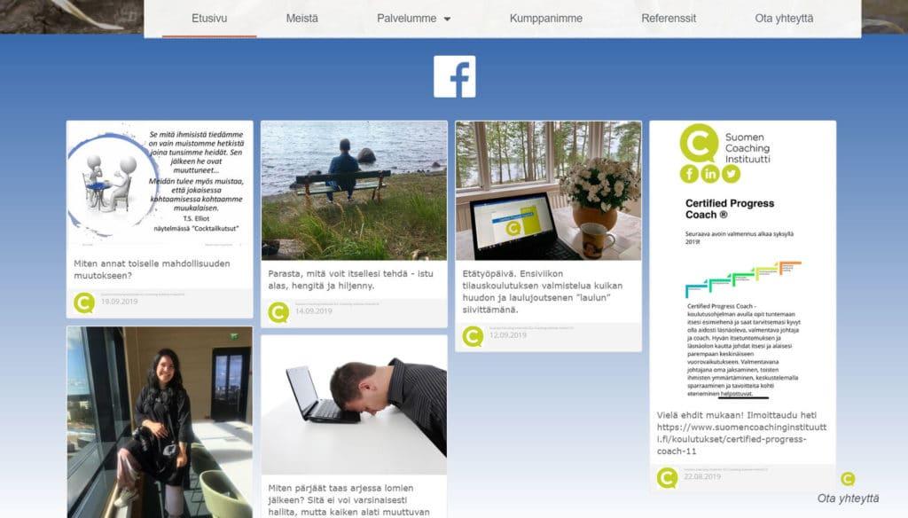 Suomen Coaching Instituutin kotisivut kuva 2