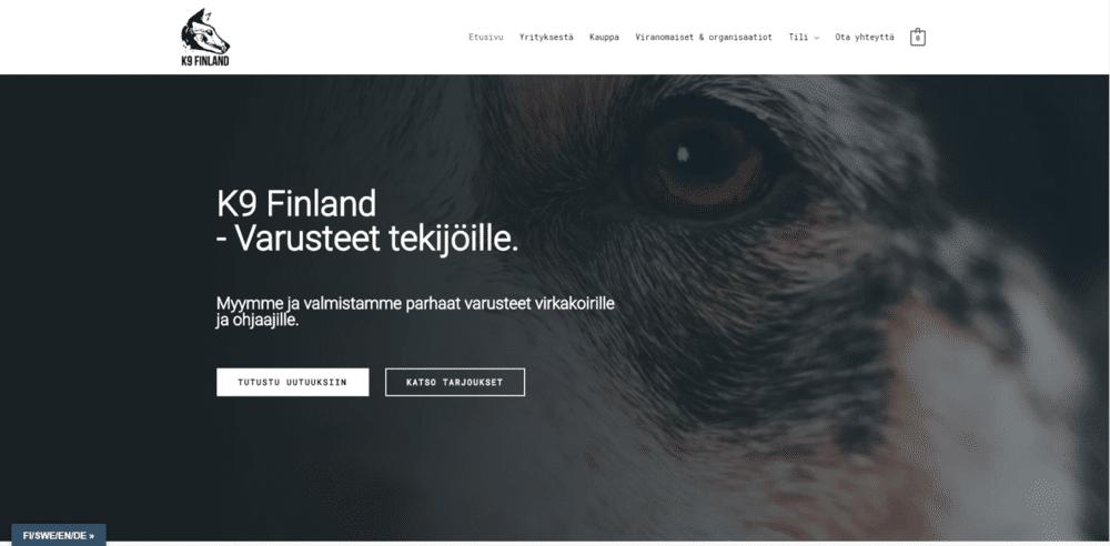 K9 Finland kotisivut kuva 2
