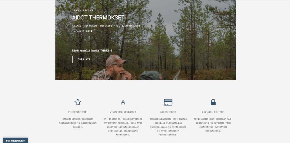 K9 Finland kotisivut kuva 3