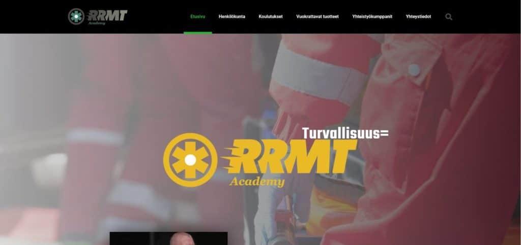 RRMT Academyn kotisivut kuva 2